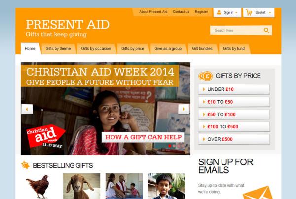 present-aid-website