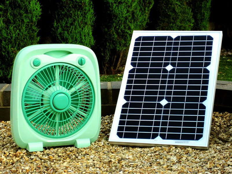 Solar Panel Fan : A solar powered fan that won t disappoint real gifts
